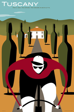 Tuscany Bicycle Poster